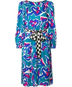Marc Jacobs | Squiggle Jacquard Midi Dress 6 Silk