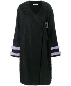 Saks Potts | Fur-Trimmed Kimono Coat 1 Cotton/Mink Fur