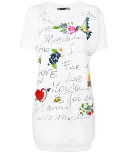 Love Moschino | Graphic Print T-Shirt Dress Size 38