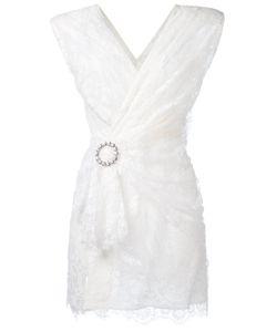 Alessandra Rich | Lace Wrap Dress