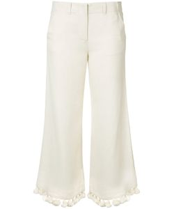 FIGUE | Cropped Tassel Trousers 8 Viscose/Silk