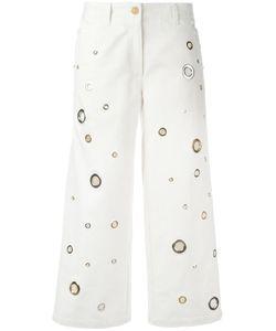 Kenzo | Eyelet Cropped Jeans 40 Cotton