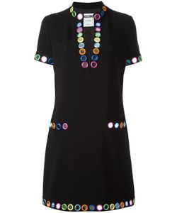 Moschino | Mirror Embroide Dress 44 Polyester/Rayon/Triacetate