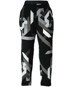 Neil Barrett | Geometric Cropped Trousers Size 44