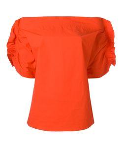 MSGM | Gathe Shortsleeve Blouse 42 Spandex/Elastane/Polyurethane/Cotton