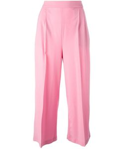 MSGM | Wide Leg Cropped Trousers 40 Virgin Wool/Spandex/Elastane/Polyester