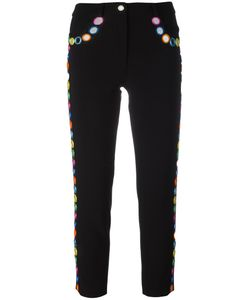Moschino | Mirror Embellished Trousers 40 Polyester/Triacetate