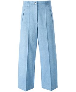 Barbara Bui | Wide-Legged Cropped Jeans 38 Cotton