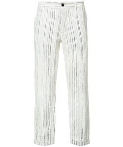 Ann Demeulemeester | Grise Woven Linen Trousers Large Linen/Flax