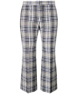 Alexander McQueen | Checked Cropped Trousers 40 Virgin Wool/Cupro