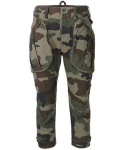 Faith Connexion | Camouflage Print Cropped Pants Medium Cotton