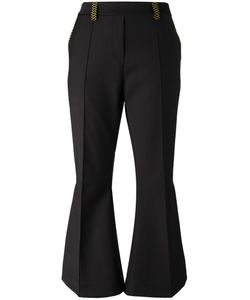 Ellery   Fla Cropped Trousers 10 Wool/Nylon/Spandex/Elastane/Cotton