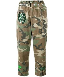 Marc Jacobs | Camouflage Print Belted Trousers 4 Cotton