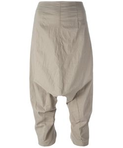 Rundholz | Dropped Crotch Cropped Trousers Xs Cotton/Linen/Flax/Polyamide