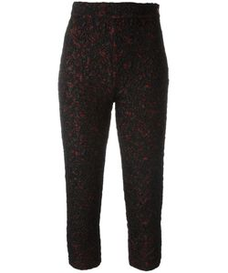 Saint Laurent | Yves Vintage Textu Cropped Trousers 38