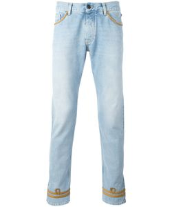 PALM ANGELS | Tone Piping Skinny Jeans 30 Cotton/Polyester/