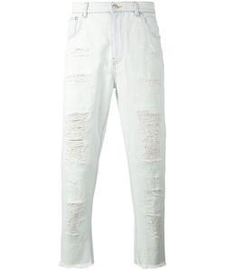 Versus | Distressed Raw Edge Jeans
