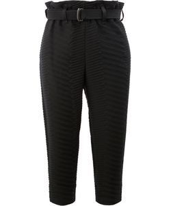 Issey Miyake | Cropped Chevron Quilted Trousers Size 3