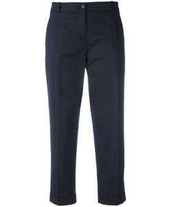 Jil Sander Navy | Cropped Trousers 38 Cotton/Spandex/Elastane