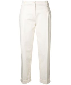 Jil Sander Navy | Cropped Trousers 42 Cotton/Spandex/Elastane