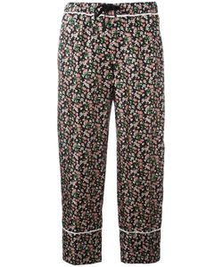 Moncler | Print Cropped Trousers 42 Silk