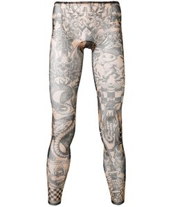 Dsquared2 | Printed Leggings Small Polyamide/Spandex/Elastane