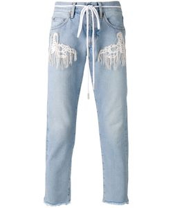 OFF-WHITE | Rope Belt Jeans 31 Cotton/Polyester/Polyester