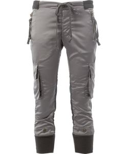 GREG LAUREN | Cargo Cropped Trousers 1 Cotton/Polyester/Spandex/Elastane/Satin