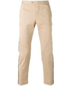 PALM ANGELS | Striped Trim Trousers 46 Cotton/Polyurethane/Metal