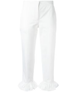 MSGM | Ruched Hems Cropped Trousers