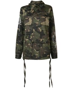 HACULLA | Camouflage Print Hooded Coat Size Medium