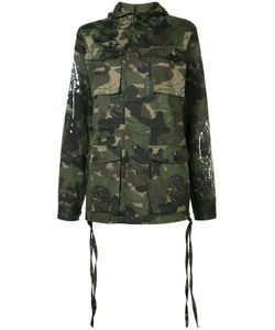 HACULLA | Camouflage Print Hooded Coat