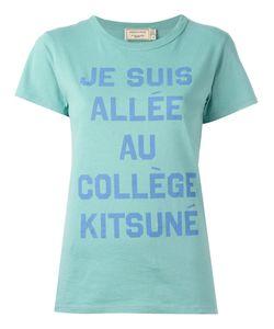 Maison Kitsune   Maison Kitsuné Slogan Print T-Shirt Small Cotton