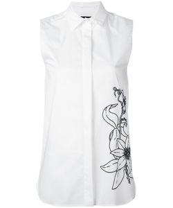 Eggs | Flower Print Sleeveless Shirt