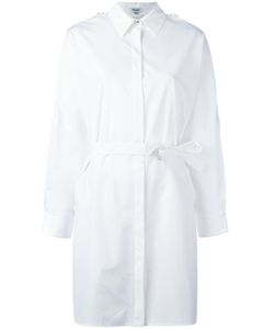 Kenzo | Belted Shirt Dress 34 Polyester/Cotton