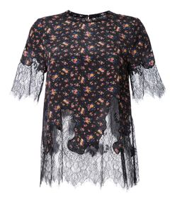 Mcq Alexander Mcqueen | Lace Panel Blouse 42 Silk