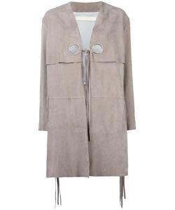 Drome | Dove Leather Coat Xs