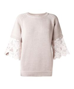 See By Chloe | See By Chloé Guipure Sleeve Jumper Medium Cotton