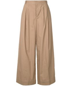 Muveil | Wide-Legged Cropped Trousers