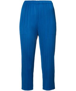 Issey Miyake | Pleated Cropped Trousers 3 Polyester