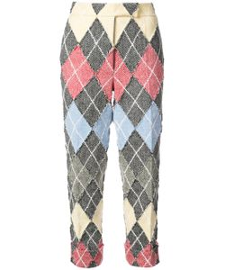 Thom Browne | Classic Backstrap Trouser With Argyle Suiting Applique In