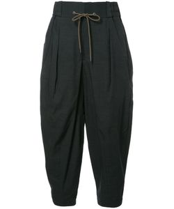 DEVOA | Drawstring Striped Pants 5 Polyester/Cotton/Wool