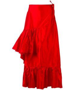 Marques Almeida | Marquesalmeida Asymmetric Ruffle Skirt 8 Silk