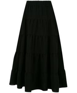 Sonia Rykiel | Tie A-Line Skirt 44 Polyester/Triacetate