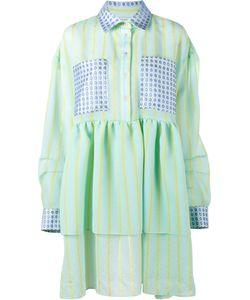 Natasha Zinko | Stripe Jacquard Dress 44 Polyester/Polyamide