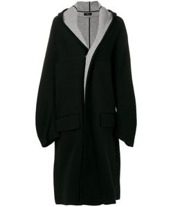 Y'S | Popper Fastened Oversized Coat Women