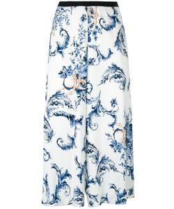 Antonio Marras | Print Cropped Trousers 44 Viscose/Spandex/Elastane/Polyester