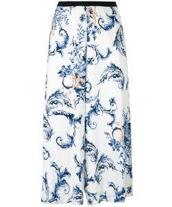 Antonio Marras | Print Cropped Trousers 44 Viscose/Spandex/Elastane/Polyester