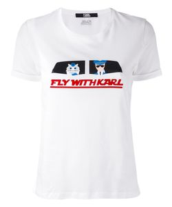 Karl Lagerfeld | Fly With Karl T-Shirt Size Xs