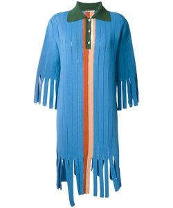 Marco De Vincenzo | Fringed Polo Dress 40 Polyester/Viscose